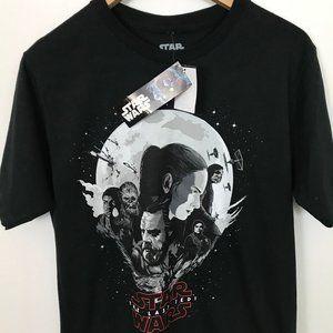 Star Wars The Last Jedi Men M Black T-Shirt NWT